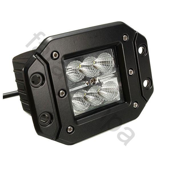Врезная LED фара дальнего света 18 Ватт.