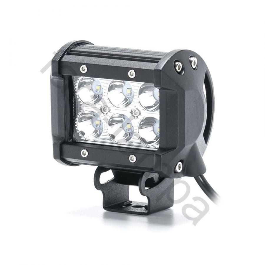 Фара светодиодная 6 диодов 18w дальний свет