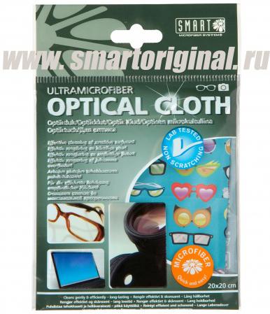 """Smart Microfiber Салфетка для оптики 20 х 20 см """"Очки"""""""