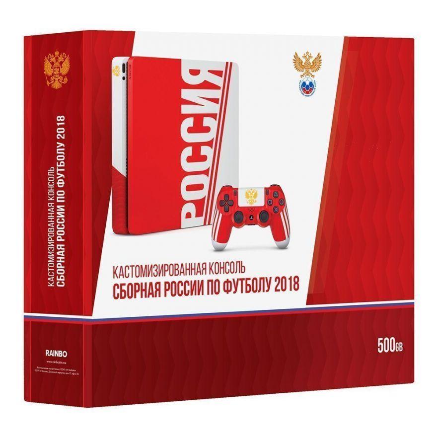 Игровая приставка Sony Playstation 4 Slim 500 ГБ CUH-2008A Сборная России
