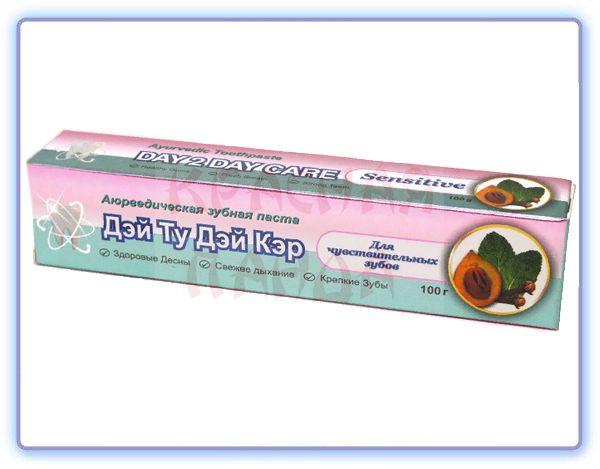 Аюрведическая зубная паста DAY 2 DAY CARE Sensitive для чувствительных зубов
