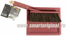 Smart Microfiber Щётка + совок бордо Natur