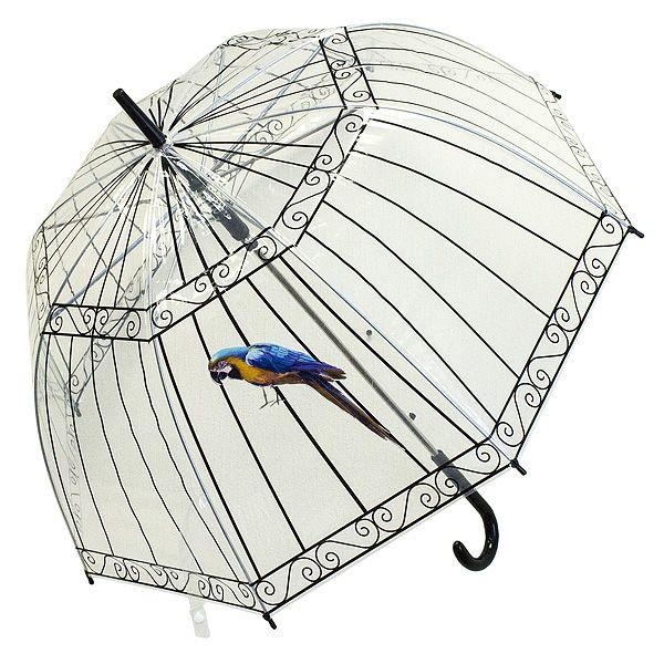 Зонт Клетка с попугаем трость