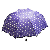 Зонт хамелеон Капельки фиолетовый