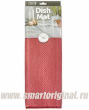 Smart Microfiber Коврик для посуды 41 х 46 см бордо