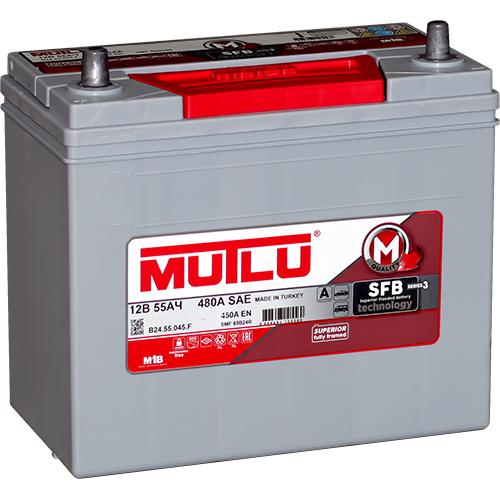 Автомобильный аккумулятор АКБ MUTLU (Мутлу) B24.55.045.F SMF 65B24R 55Ач П.П. тонкие клеммы