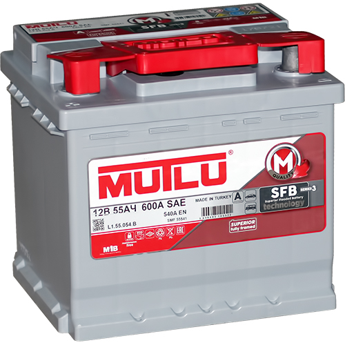 Автомобильный аккумулятор АКБ MUTLU (Мутлу) L1.55.054.B SMF 55541 55Ач П.П.