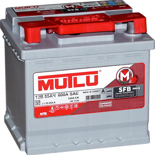 Автомобильный аккумулятор АКБ MUTLU (Мутлу) L1.55.054.А SMF 55540 55Ач О.П.