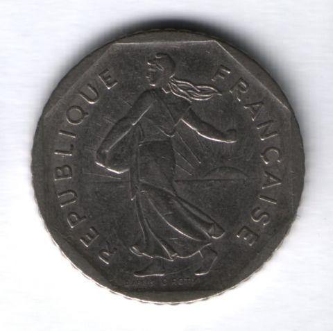 2 франка 1979 г. Франция XF