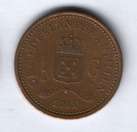 1 гульден 2008 г. Нидерландские Антильские острова