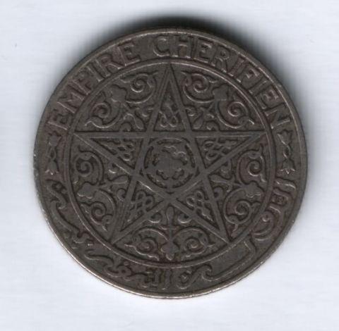 1 франк 1921 г. Марокко VF