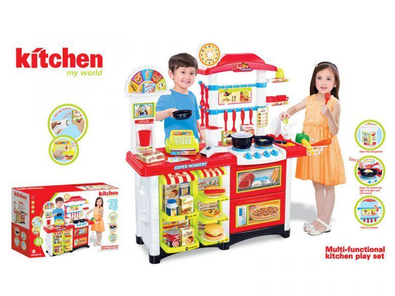 Десткая кухня серии ЭЛИТ с прилавком 58 аксессуаров Kitchen Fast food center 889-05, высота 87 см.