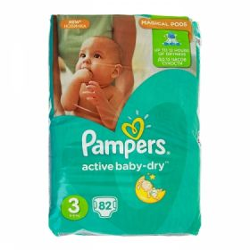 Pampers Active Baby 6-10кг, 82шт (3)