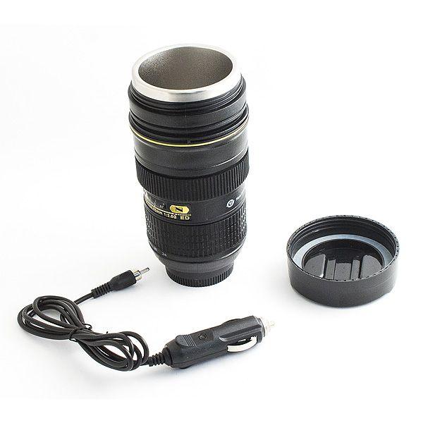 Термостакан в виде объектива от фотоаппарата с адаптером N 10