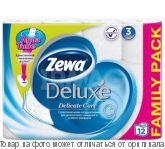 Zewa Delux.Туалетная бумага 3-х сл. белая 12 рулон., шт
