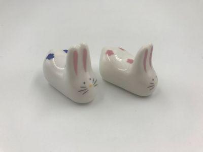 АКЦИЯ! Подставка под палочки керамическая кролики 2 шт