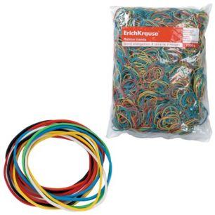 Резинки для денег ERICH KRAUSE (натуральный каучук!), цветные, 1000 г, диаметр 60, 80, 100 мм, 22098