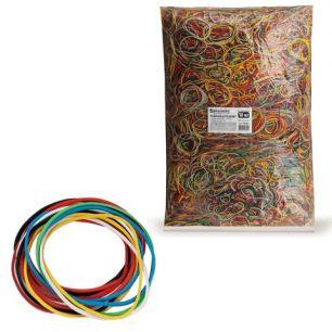 Резинки для денег BRAUBERG, 10 кг, цветные, натуральный каучук, 440081
