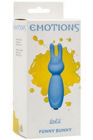Вибропуля-зайчик Lola Toys Emotions Funny Bunny голубая, 8,2*2,3 см