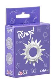 Эрекционное кольцо Lola Toys Rings Cristal прозрачное