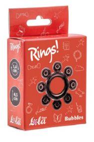 Эрекционное кольцо Lola Toys Rings Bubbles черное