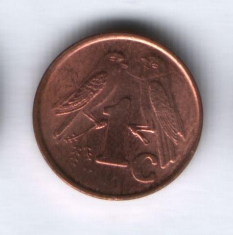 1 цент 2001 года ЮАР