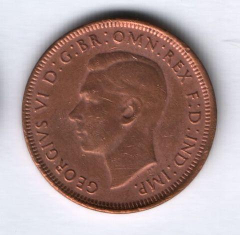 1/2 пенни 1944 года Австралия, редкий год