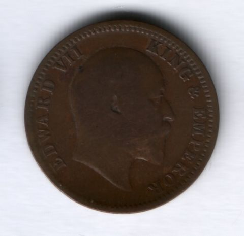 1/4 анны 1910 года Индия XF-