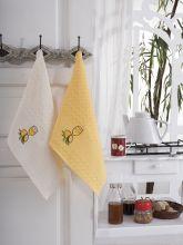 """Кухонные полотенца """"KARNA"""" FESTIVAL 45x65 - 2 шт. Арт.1089к-7"""