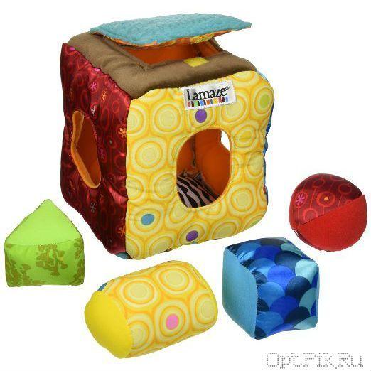 Мягкий кубик-сортер