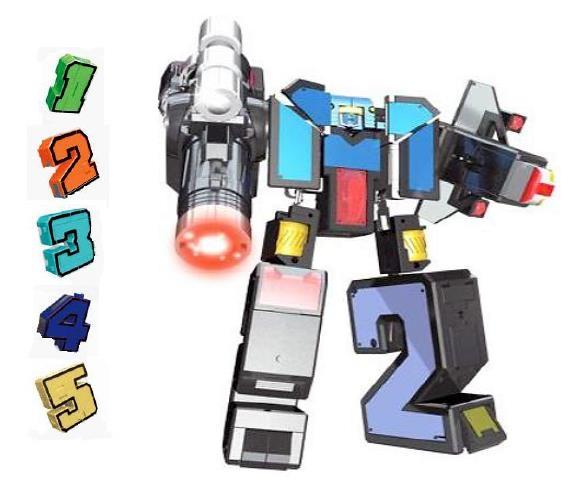 Трансбот Боевой расчет XL от 1Toy Космобот ВКС цифры 1-5