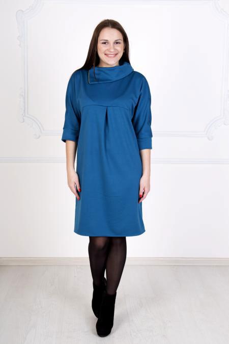 """Платье """"Ноктюрн"""" синее, милано"""