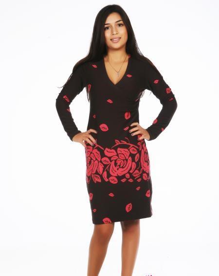 """Платье """"Ретро"""" красные цветы"""