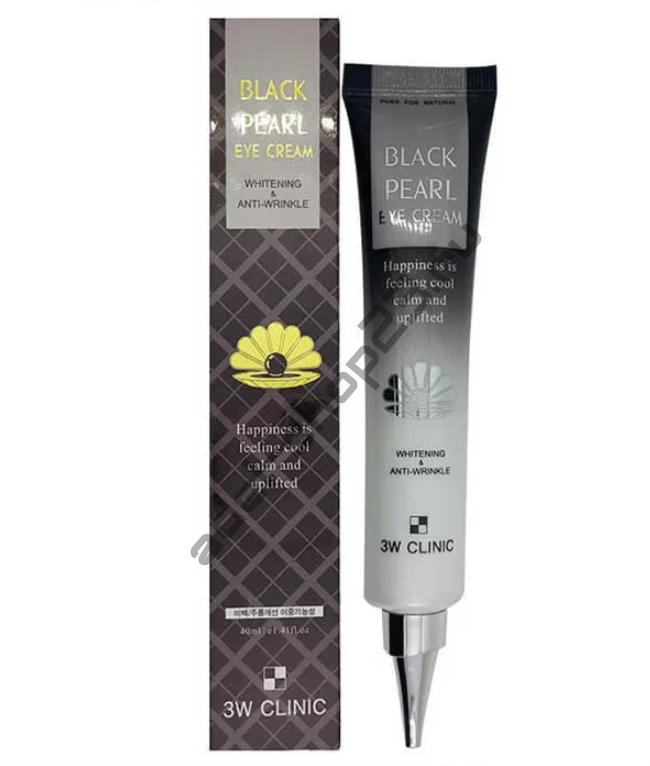 3W CLINIC - Антивозрастной крем для кожи вокруг глаз с экстрактом чёрного жемчуга Black pearl Eye Cream Whitening & Anti-Wrinkle