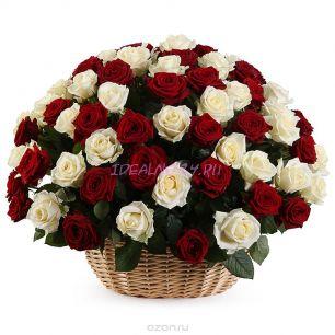 Композиция вихрь страсти 101 роза