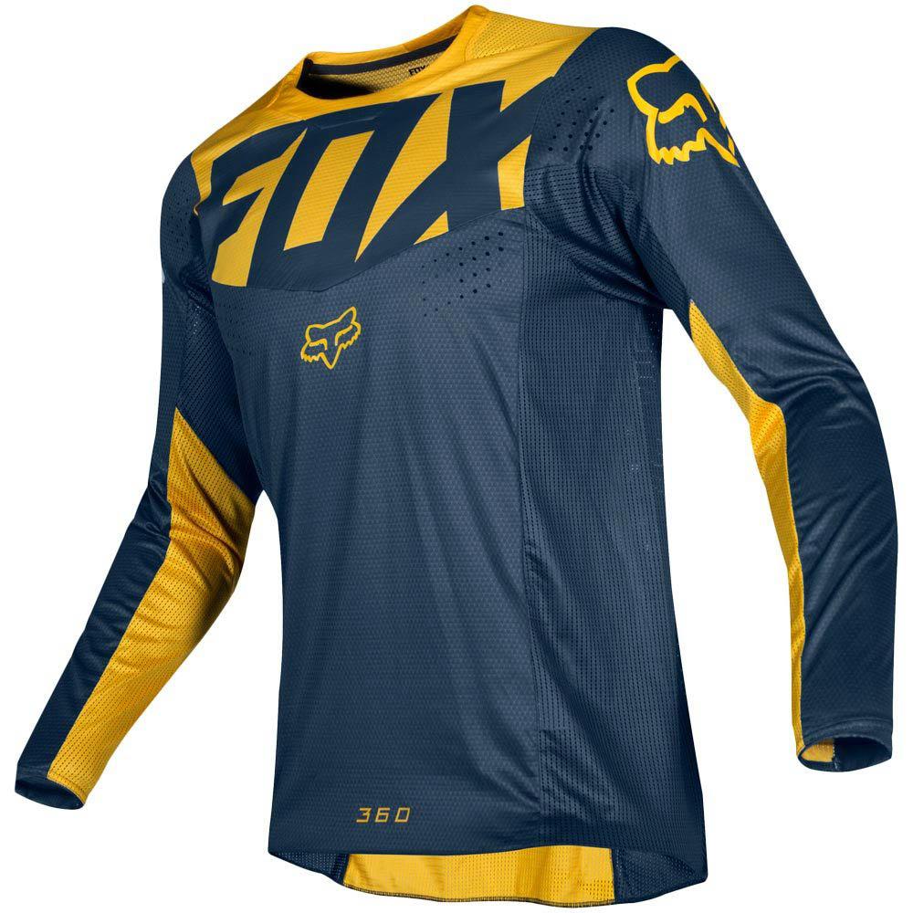 Fox - 2019 360 Kila Navy/Yellow джерси, сине-желтое