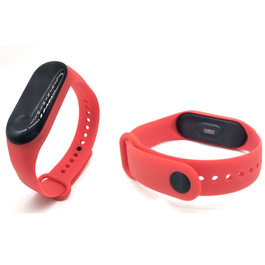 Силиконовый ремешок для Xiaomi Mi Band 3 (Красный)
