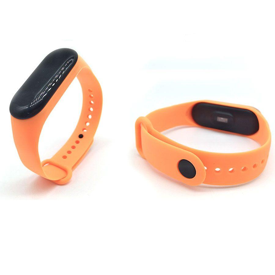 Силиконовый ремешок для Xiaomi Mi Band 3 (Оранжевый)