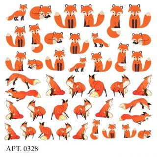 Слайдер-дизайн для ногтей № 0328