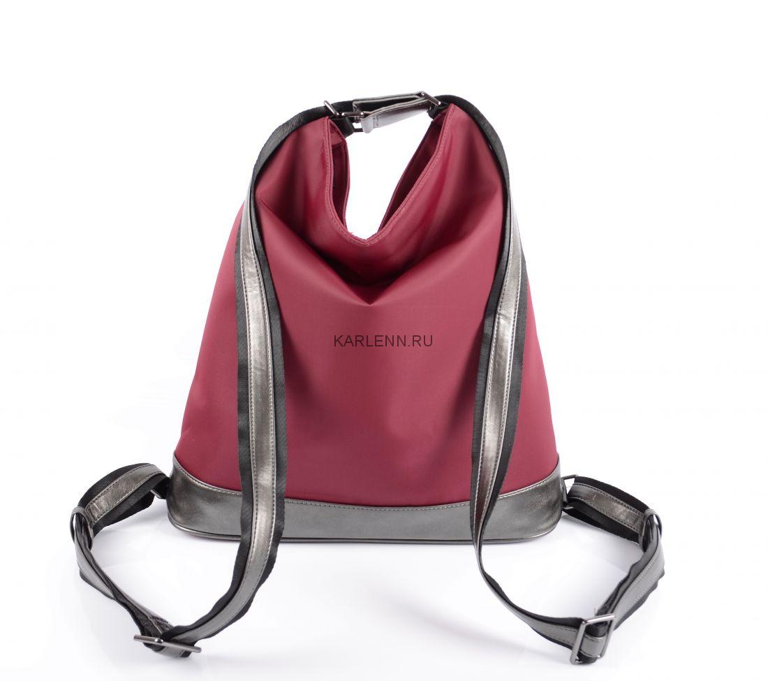Сумка-рюкзак женская KARLENN (вишневая)