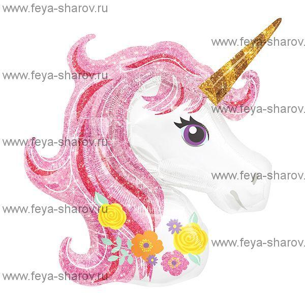 Шар Единорог Розовый 117 см