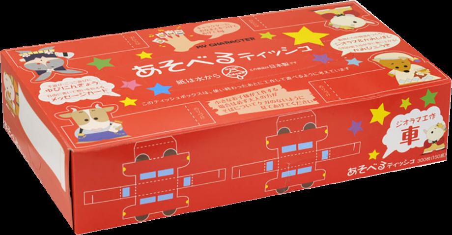 IDESHIGYO Бумажные салфетки «Игры-Самоделки», двухслойные, 150 шт. (Япония)