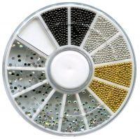 Набор карусель, бульенки, 3 цвета + стразы
