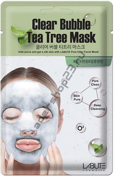 LABUTE - Очищающая кислородная маска с чайным деревом Clear  Bubble  Tea  Tree  Mask