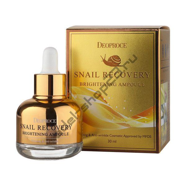 Deoproce - Осветляющая восстанавливающая сыворотка с муцином улитки DEOPROCE SNAIL RECOVERY BRIGHTENING AMPOULE
