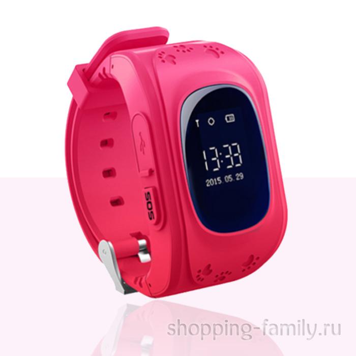 Умные детские часы с GPS Smart Baby Watch Q50 розовые
