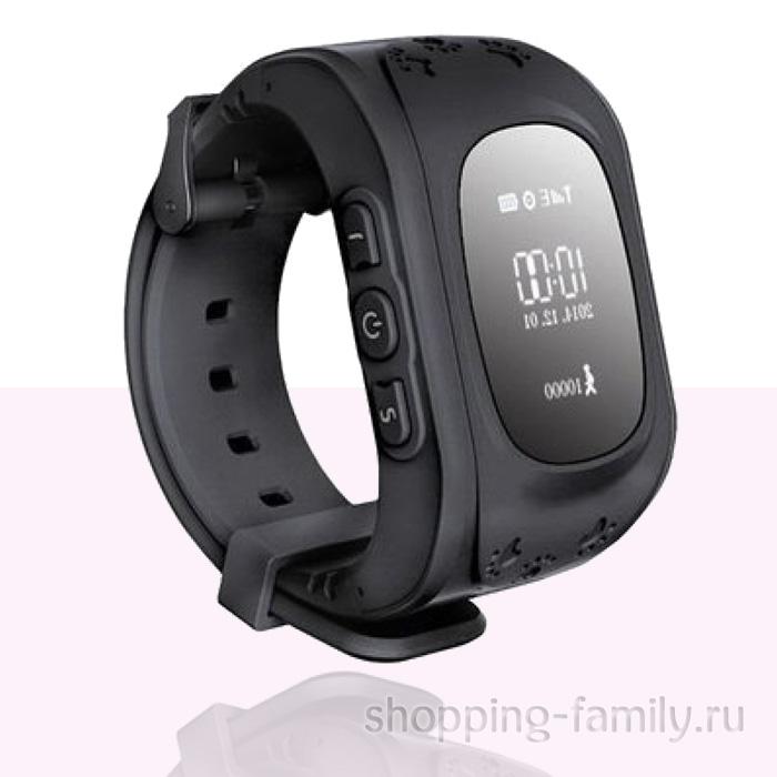 Умные детские часы с GPS Smart Baby Watch Q50 черные