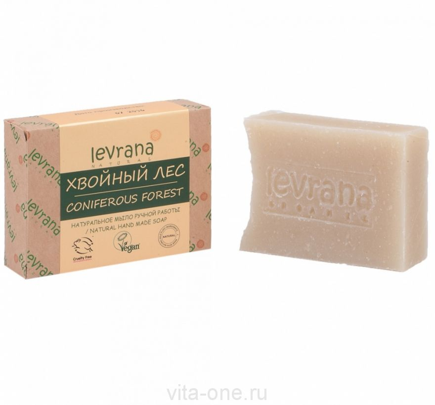Натуральное мыло ручной работы Хвойный лес (Леврана) 100 г