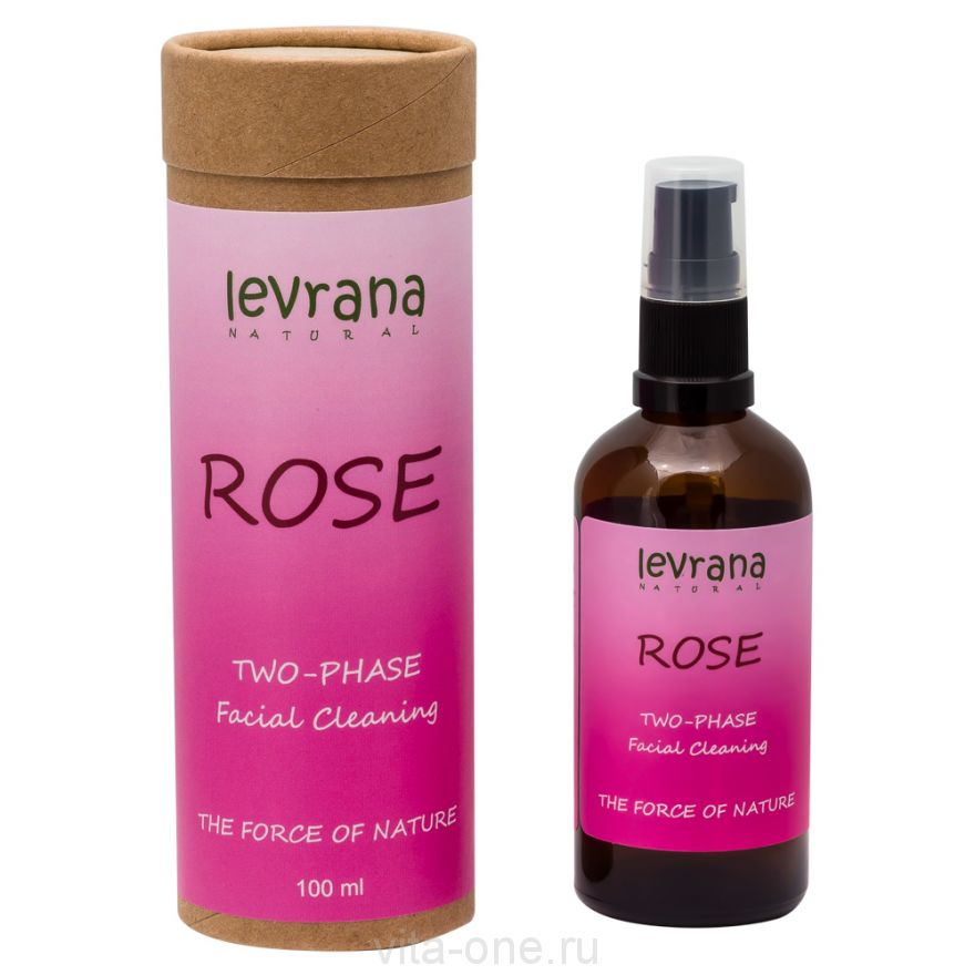 Двухфазное средство для снятия макияжа Роза Levrana (Леврана) 100 мл