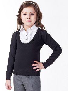 ДИСКОНТ VILATTE F39.065 Блузка для девочки черный